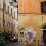 Spring rain in Rome