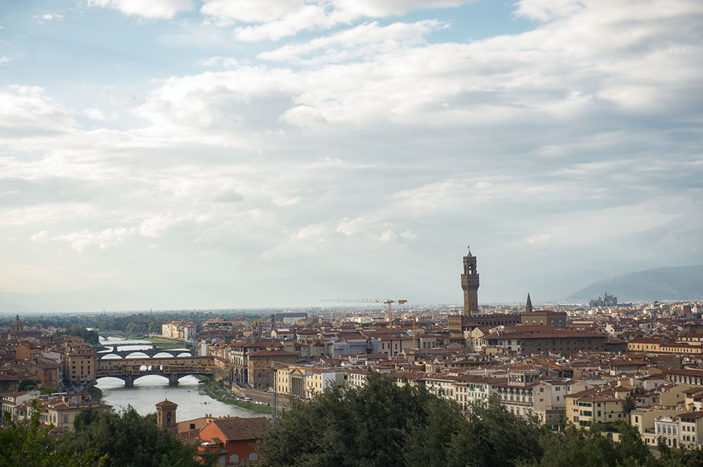 florence, italy, panorama, view from above