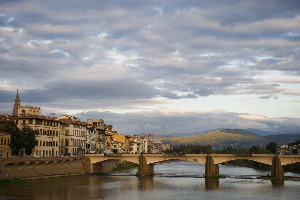 tuscany, arno, river, florence, bridges, autumn