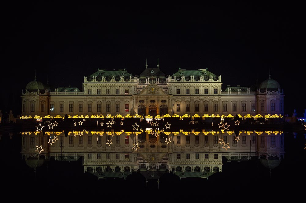 belvedere, christmas in vienna, christmas, destination vienna, lights