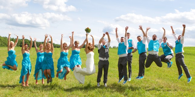 Jump for the Wedding Party