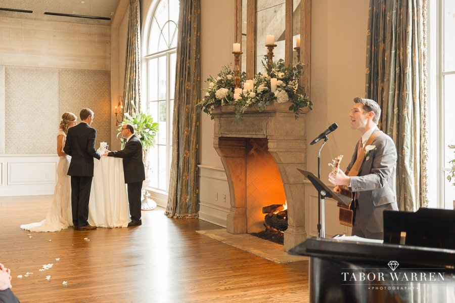 Southern Hills Country Club wedding ceremony photography
