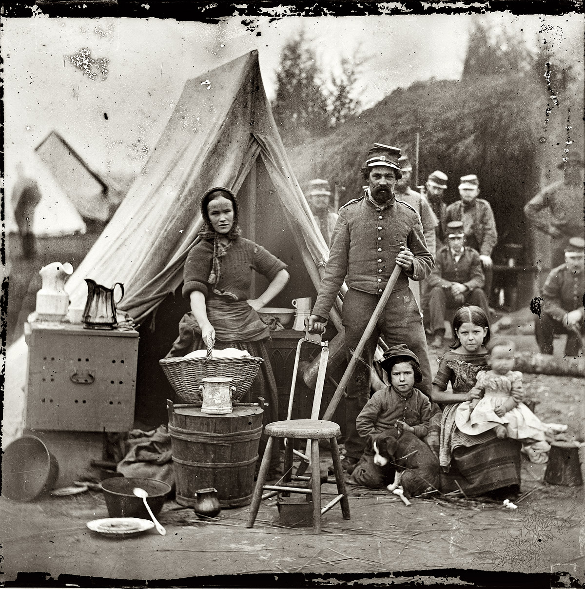 Guerre De Sécession Photos campement pendant la guerre de sécession en 1861