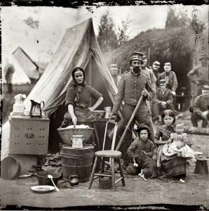 Campement - Guerre de Secession - Etats-Unis - 1861