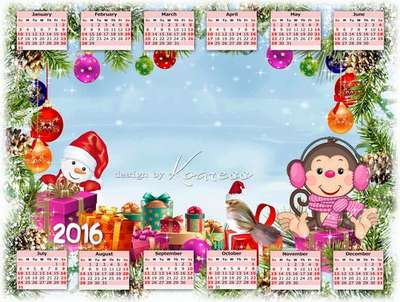 Free 2016 calendar template kids with ability to insert photos     Free 2016 calendar template kids with ability to insert photos   Christmas  gift