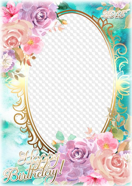 Photo Frame Happy Birthday Png Psd Transparent Png Frame Psd Layered Photo Frame Template Download