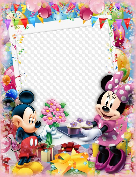 Happy Birthday With Mickey And Minnie Mouse Children
