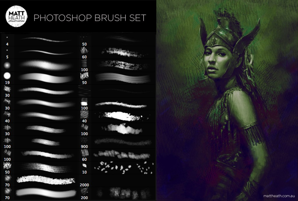 Matt Heath Free PSD Brushes