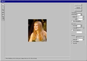 Removing a Picture from it s Background Photoshop Tutorial     Open the extract tool  Image Extract or Option Alt Cmd Ctrl X