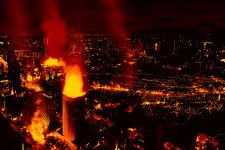 city on fire photo manipulation photoshop tutorial