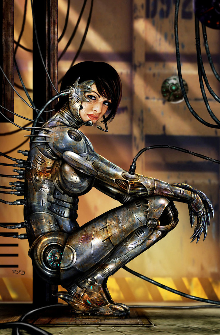 sexy robots battle angel woman
