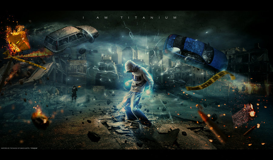sci fi photo manipulation car crime scene