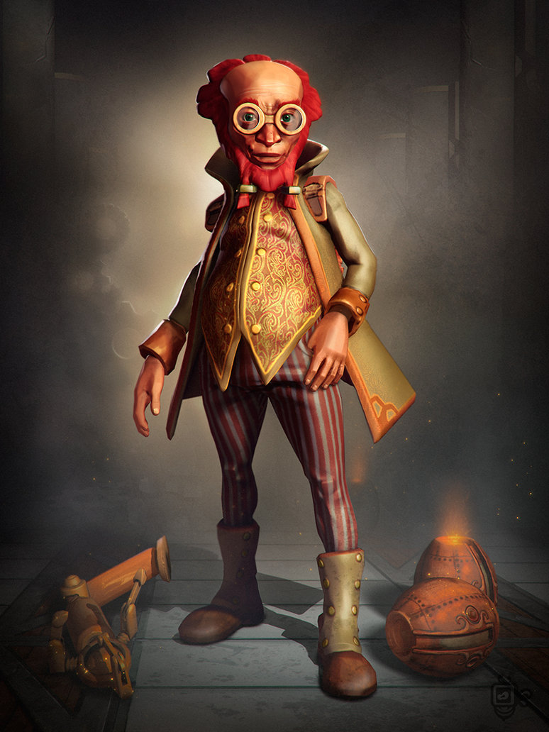 steampunk scientist best 3D