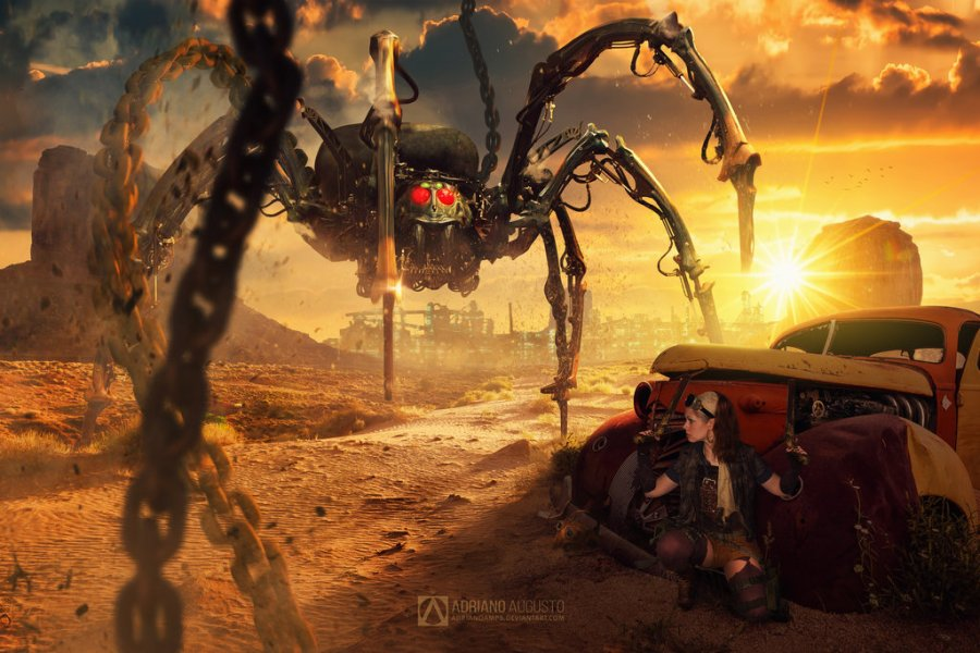 steam punk spider