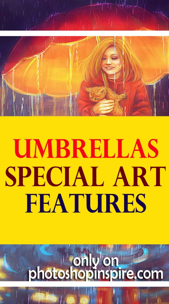umbrellas special art features Photoshop inspiration