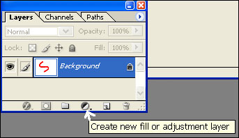 adjustment layer button