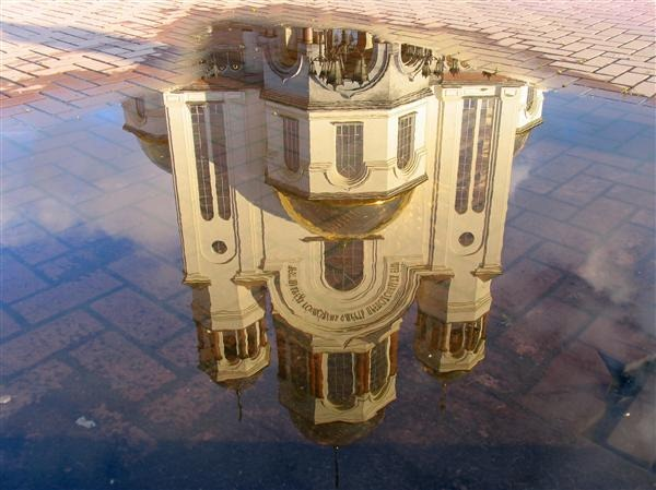 Reflection of Cathedral in the Pool