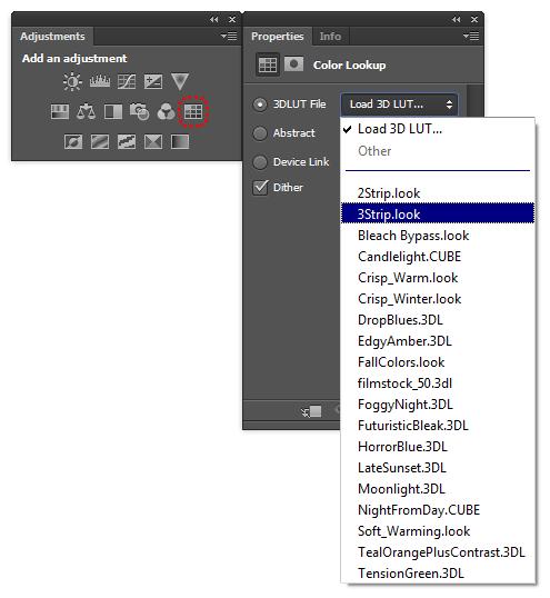 Color Lookup adjustment