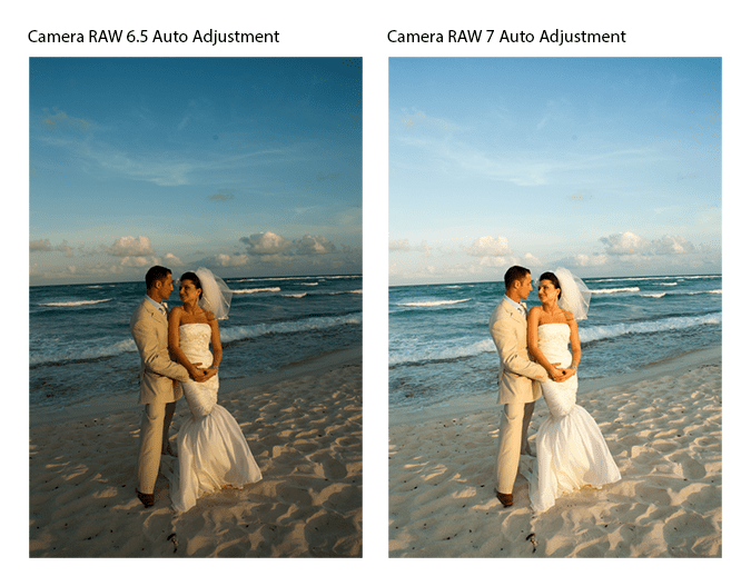 Auto adjustments in Camera RAW 6.5 vs 7