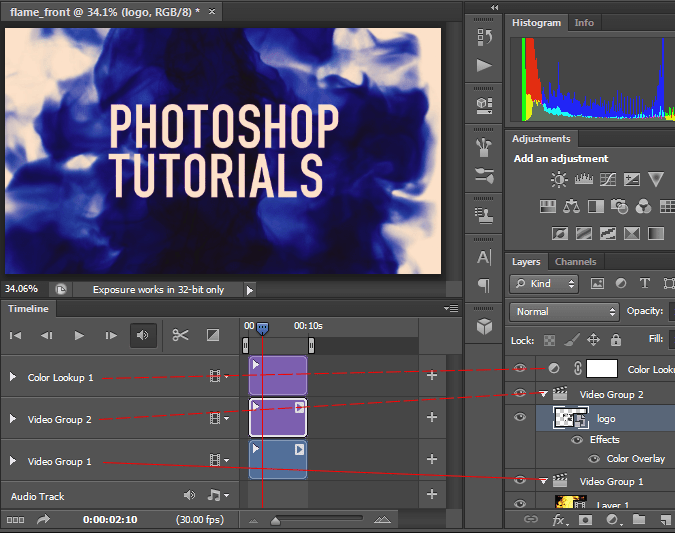 Video editing in Photoshop CS6
