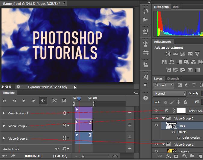 Video editing in Photoshop CS6