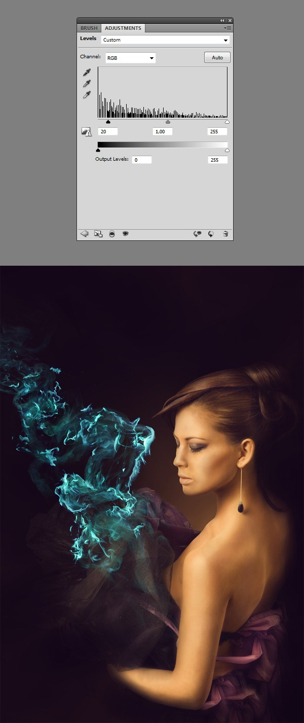 Create this amazing fashion photo manipulation with abstract smoke clipimage039 baditri Image collections
