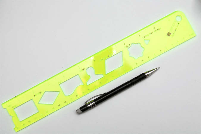 User Flow Stencil with Pentel Forte A55 Pencil