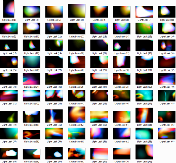 Light Leak Thumbnails
