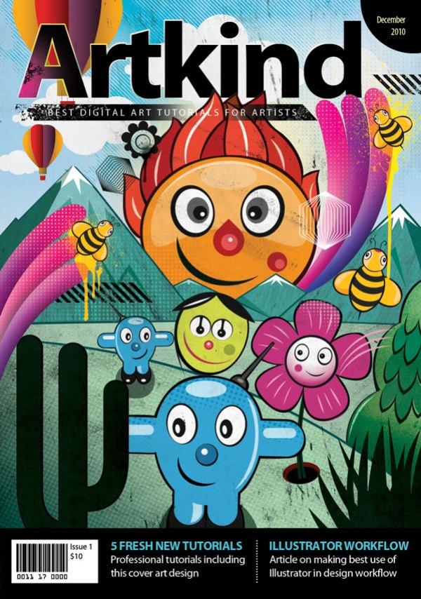 Book Cover Design Tutorial Illustrator : Create a vector style magazine cover in photoshop