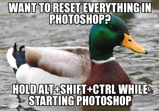 Want to reset everything in Photoshop? Hold Alt+Shift+Ctrl while starting Photoshop.