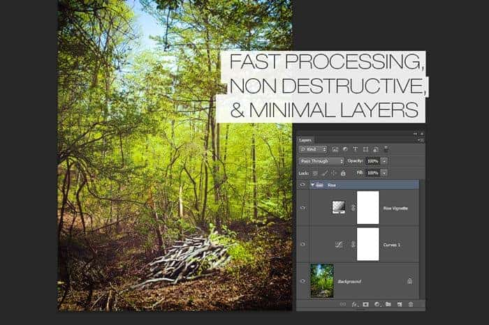 Fast processing, nondestructive, and minimal layers