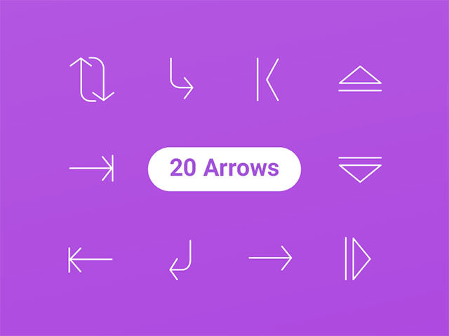 20-arrow-icons