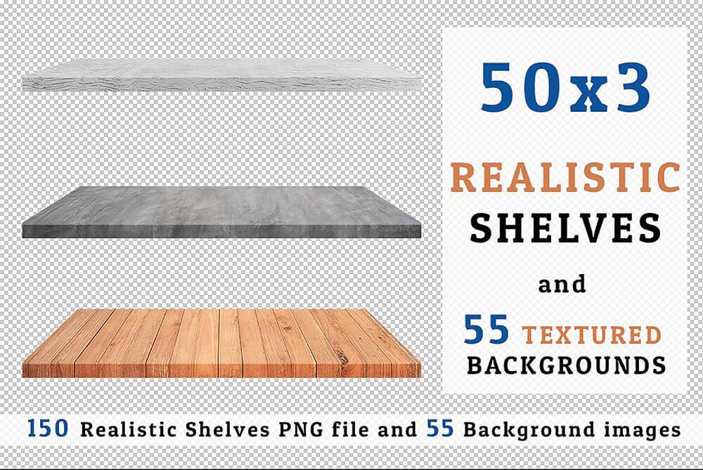 cover-realistic-wood-shelves-set-3