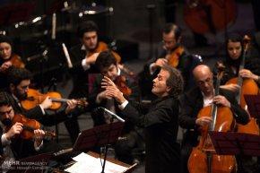 Tehran, Iran - Shahrdad Rohani conducts orchest in Tehran 2015 Jan 16