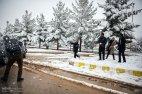 Iran, Kerman Province, Kerman City Winter Snow Snowball 03