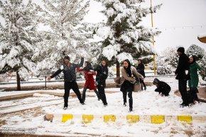 Iran, Kerman Province, Kerman City Winter Snow Snowball 04