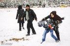 Iran, Kerman Province, Kerman City Winter Snow Snowball 06