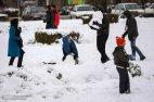 Iran, Kerman Province, Kerman City Winter Snow Snowball 08