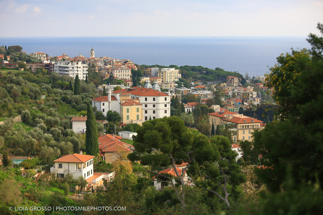 Fotografia famiglia mare campagna Bordighera Liguria