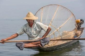 Pêcheur lac Inde - Birmanie.
