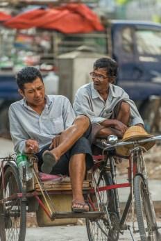Taxi vélo Yangon.