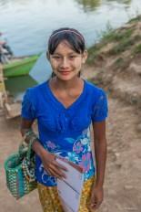 jeune fille région de Mandalay