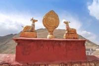 Roue du Dharam monastère de Gyantse près de Lhassa - Tibet