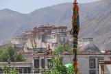 Vue du Potala depuis le monastère du Jokhang - Lhassa - Tibet
