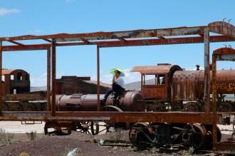 Cimertière de train - Uyuni -Bolivie