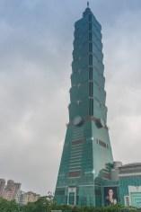 Taipei 101 et sa forme de bamboo.