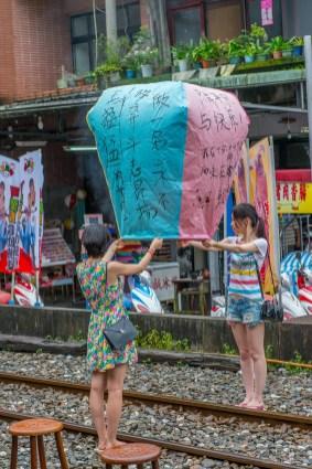 Village Pingxi et lanterne volante - Taiwan.