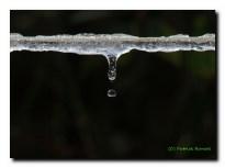 Fonte des neiges sur fil à linge