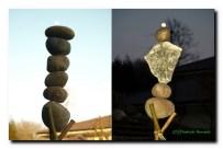 Equilibre fragile, la pierre du haut est très lourde...