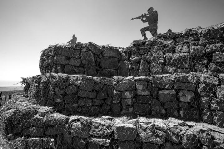 Bunker im Grenzgebiet von Israel zu Syrien in den Golan Höhen in Israel, Juli 2017 // Bunker system at the Golan Heights at the border of Syria in Israel , July 2017